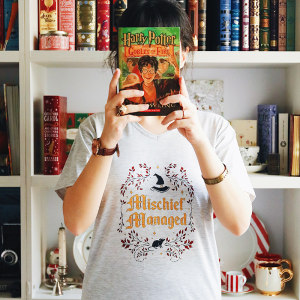 تی شرت کالکشن WearBookish طرح Mischief Managed